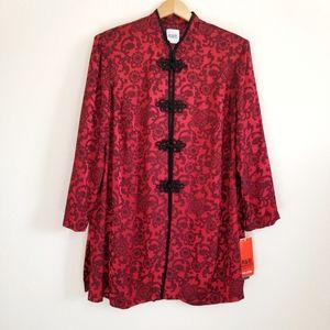 Vtg NWT R&M Richards Karen Wong Black & Red Jacket